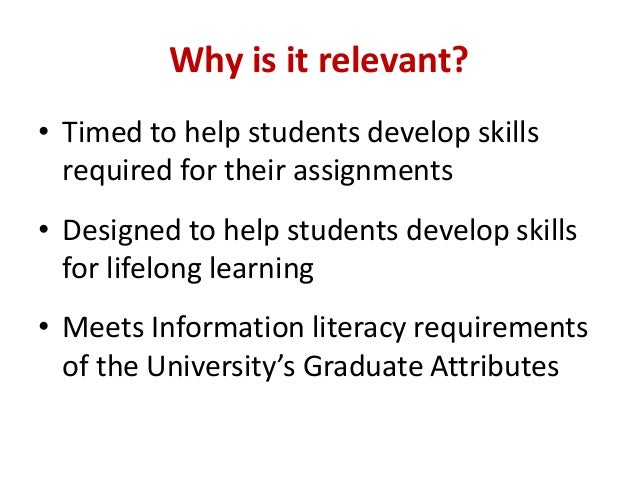 Developing Health Sciences students' information skills through online self-paced learning  Slide 3