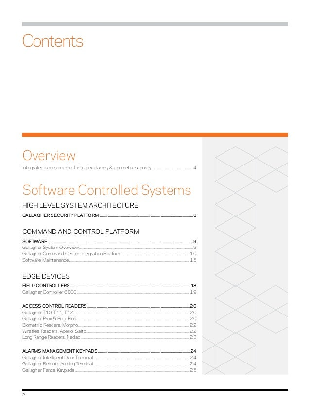 gallagher systems catalogue