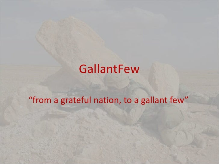 """GallantFew<br />""""from a grateful nation, to a gallant few""""<br />"""