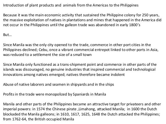 effect of galleon trade in the philippines