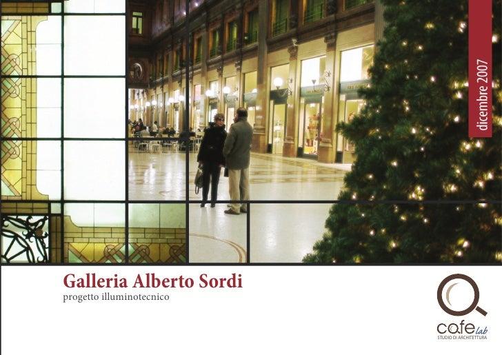 Galleria Alberto Sordi progetto illuminotecnico                              STUDIO DI ARCHITETTURA