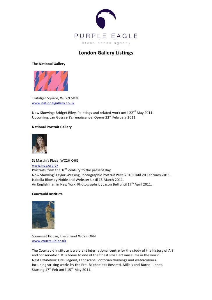 London	  Gallery	  Listings	  	  The	  National	  Gallery	  	  	  	  	  	  	  	  	  	  	  	  	  	  	  	  	  	  	  	  	  	 ...