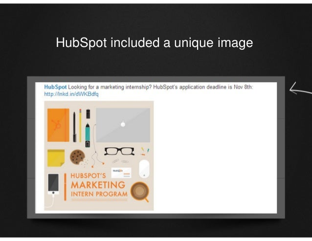 HubSpot included a unique image