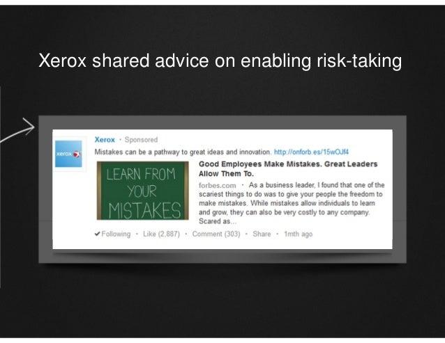 Xerox shared advice on enabling risk-taking