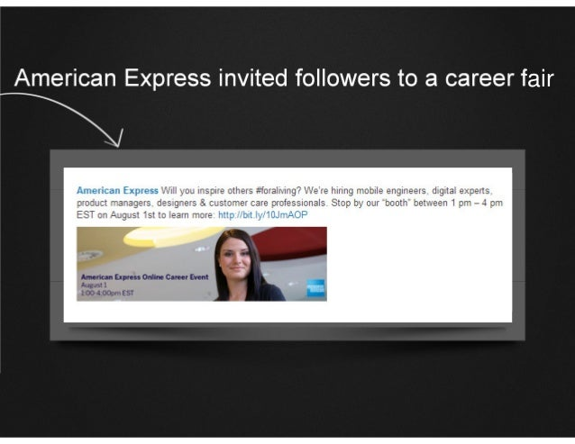 American Express invited followers to a career fair