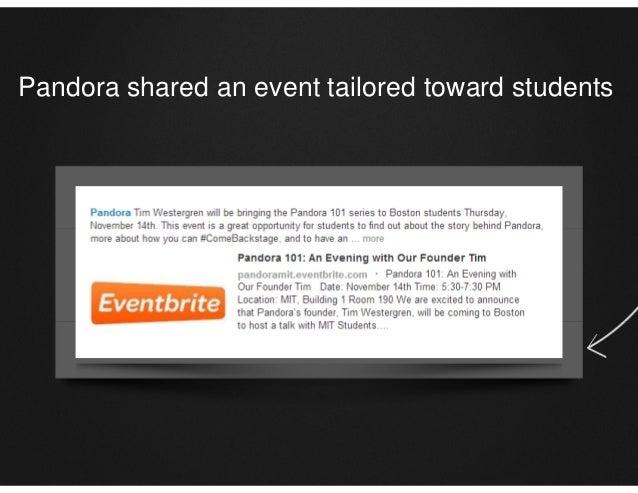 Pandora shared an event tailored toward students