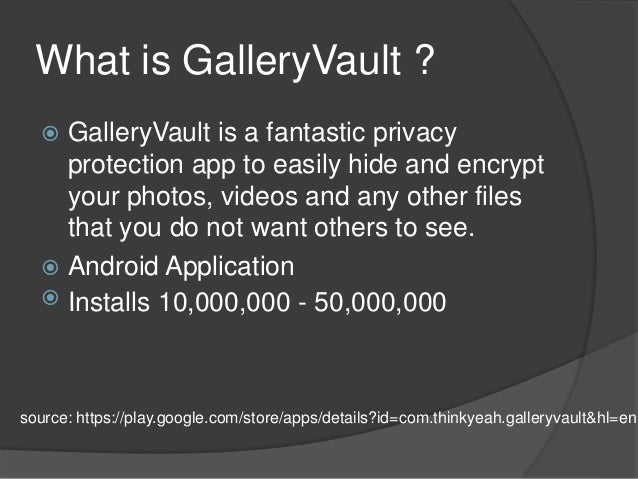 Gallery vault password Hack