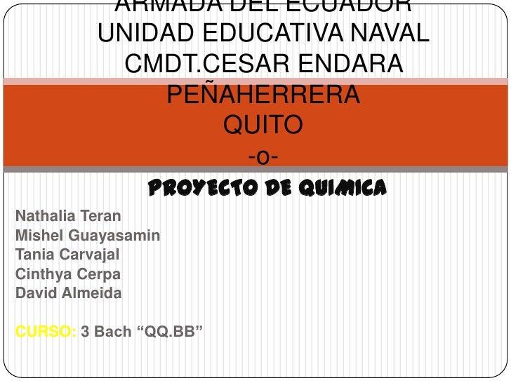 ARMADA DEL ECUADOR         UNIDAD EDUCATIVA NAVAL           CMDT.CESAR ENDARA             PEÑAHERRERA                 QUIT...