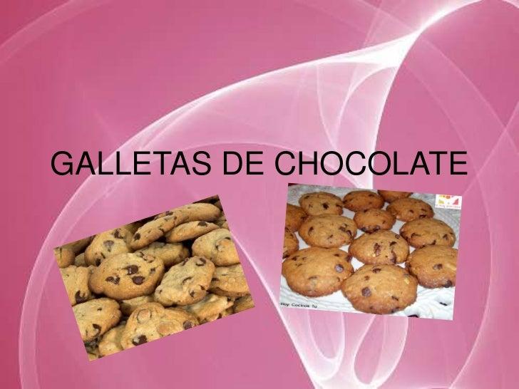 GALLETAS DE CHOCOLATE<br />