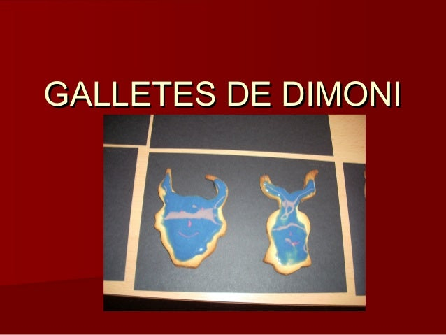 GALLETES DE DIMONI