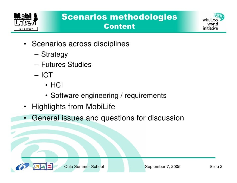 Galli Scenarios Methodologies Slide 2