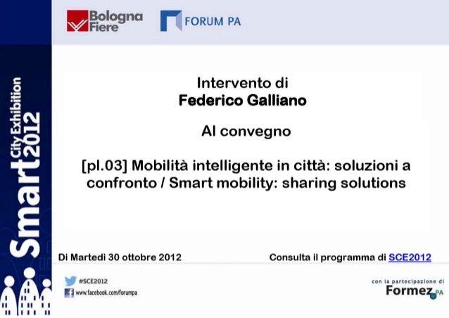 La mobilità sostenibile nellastrategia General Motors  Mobilità Intelligente in città: soluzioni a confronto              ...