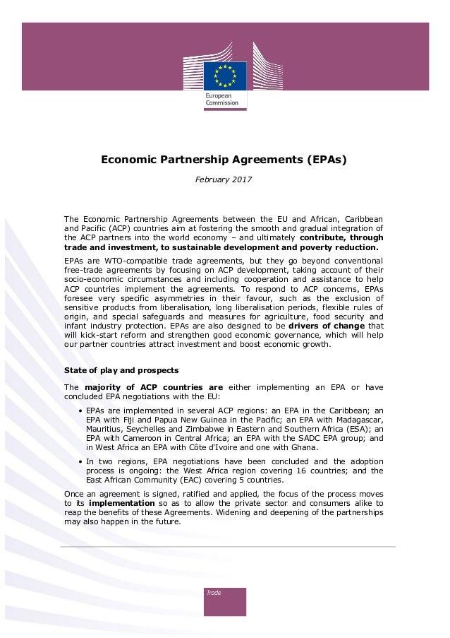 Economic Partnership Agreements (EPAs) February 2017 The Economic Partnership Agreements between the EU and African, Carib...