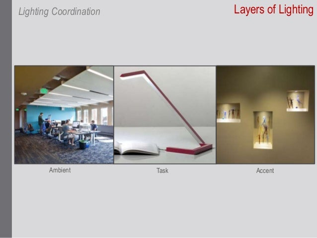 Scope overlap 4 layers of lighting lighting coordination ambient task accent