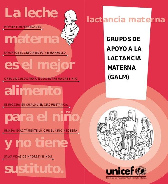 482196e2b GRUPOS DE APOYO A LA LACTANCIA MATERNA (GALM) Fondo de las Naciones Unidas  para ...