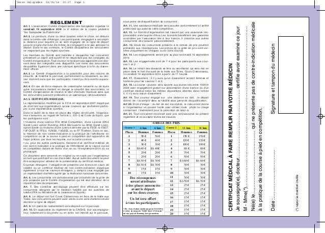 REGLEMENT Art.1. L'association Comité d'organisation des Galopades organise le vendredi 19 septembre 2014 la 6e édition de...