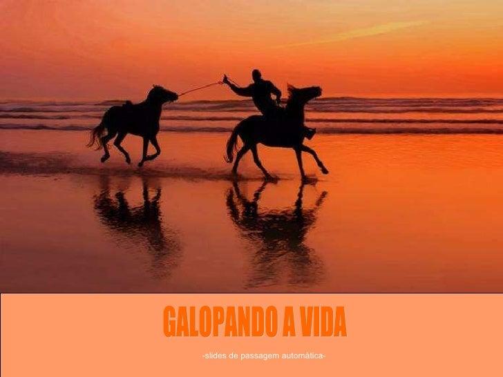 GALOPANDO A VIDA -slides de passagem automática-