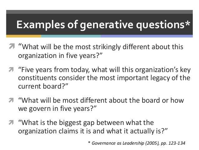 Governance as Leadership in Practice