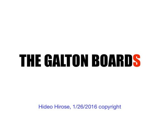 Central Limit Theorem & Galton Board