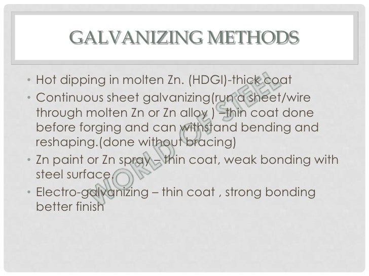 Galvanizing Methods