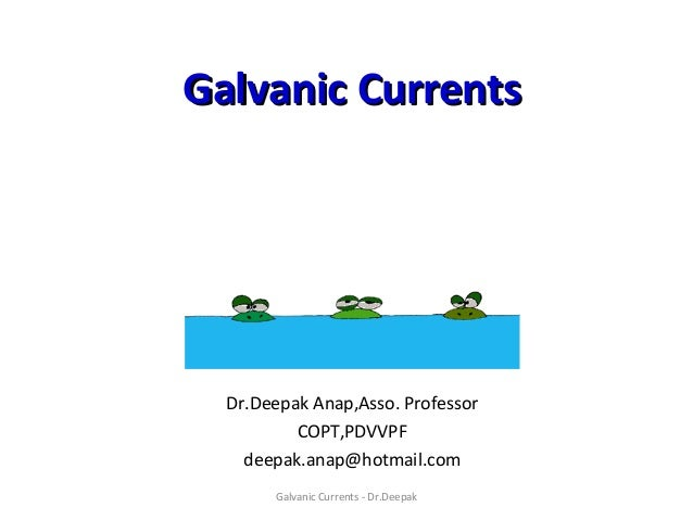 how to use galvanic current