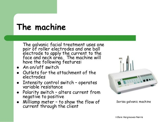 Galvanic current facial