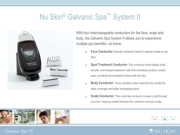 Galvanic Body Spa Info