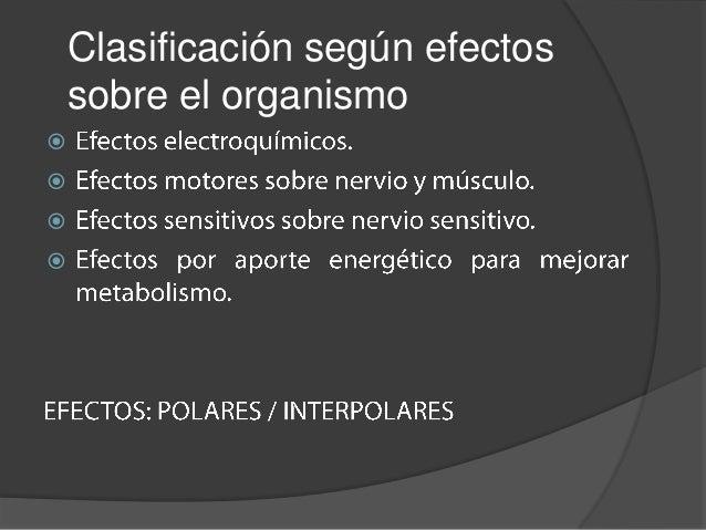 Clasificación según efectos    sobre el organismo