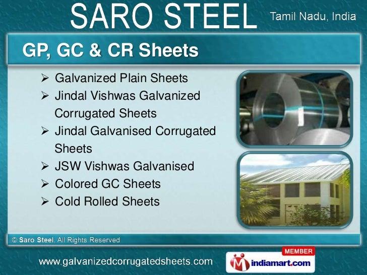 GP, GC & CR Sheets  Galvanized Plain Sheets  Jindal Vishwas Galvanized   Corrugated Sheets  Jindal Galvanised Corrugate...