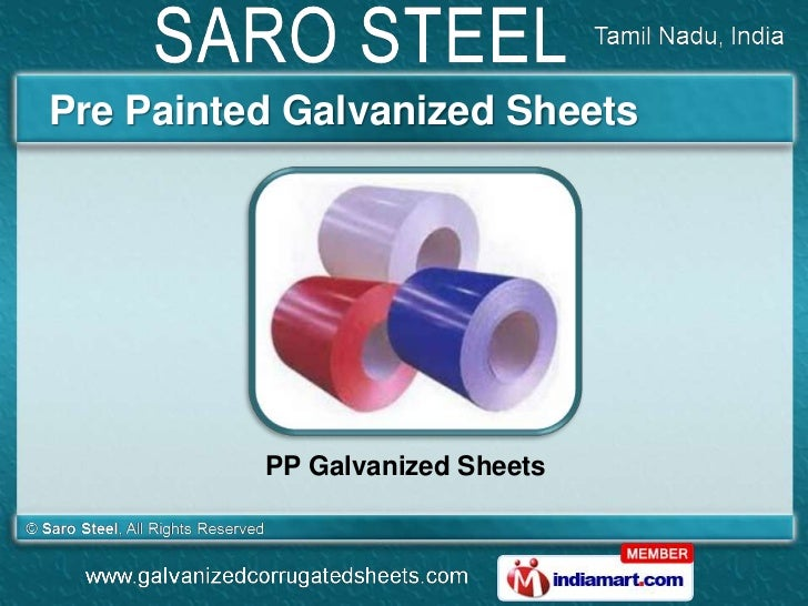 Pre Painted Galvanized Sheets          PP Galvanized Sheets
