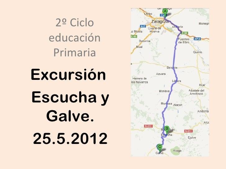 2º Ciclo  educación   PrimariaExcursiónEscucha y  Galve.25.5.2012