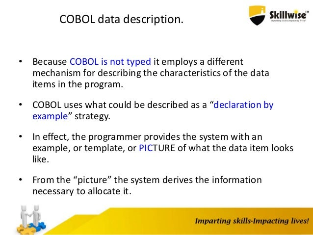 Skillwise - Cobol Programming Basics