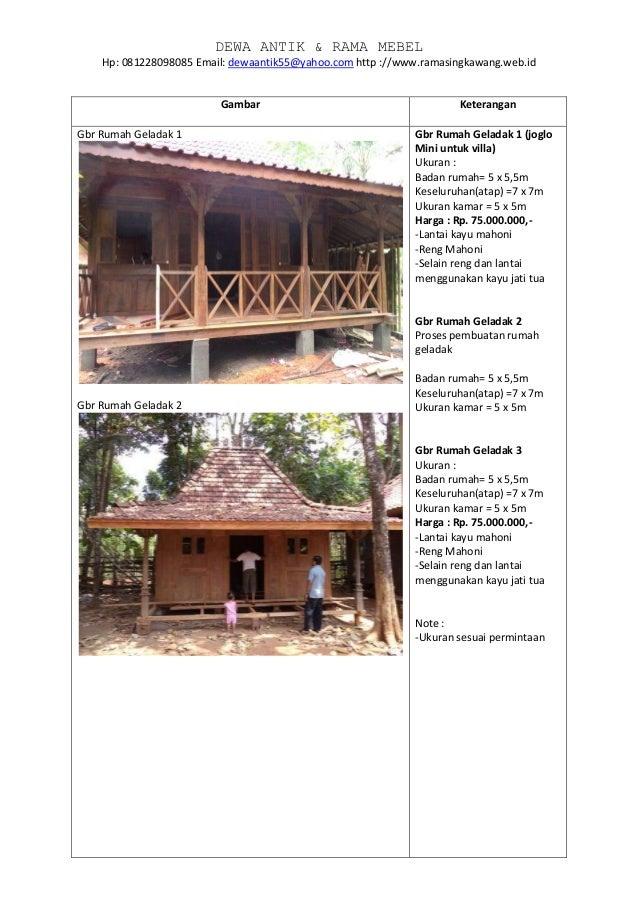 Jual Rumah Kayu Joglo Geladak Villa Layu Gebyok Limasan Dll By Http