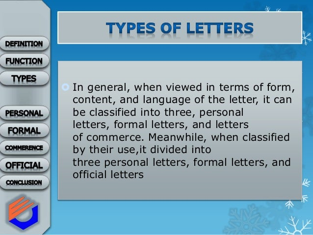 Letters Description