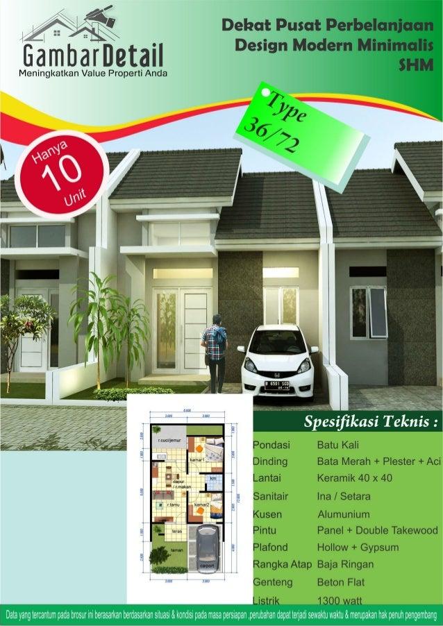 Desain Denah Rumah Minimalis Type 40  gambar kerja rumah minimalis type 36