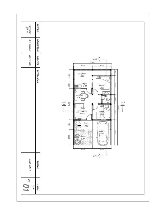Gambar Kerja Rumah Minimalis Type 36