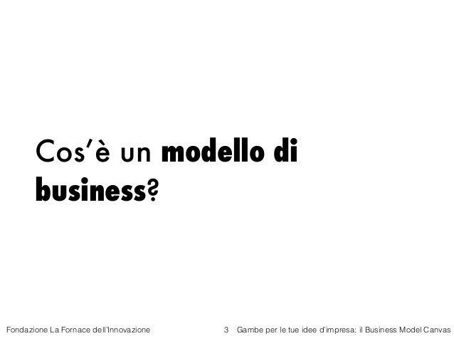 Gambe per le tue idea di impresa -Il business model canvas - Fornace dell'Innovazione - 29 ottobre 2015 Slide 3