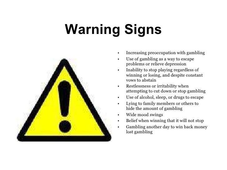 Signs of a gambling addiction b b near casino rama