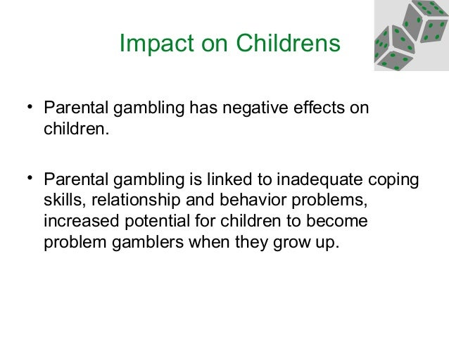 Problem gambling effects on children easy casino profits com