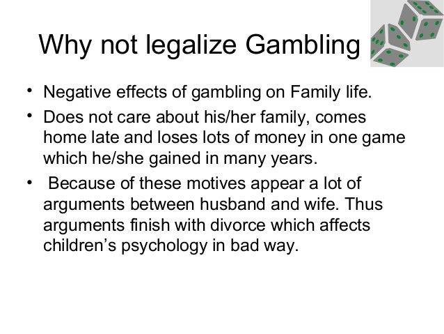 Gambling bad effects cheating gaming casino