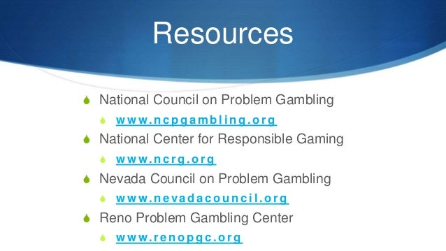 Nevada problem gambling project maritim jolie resort & casino