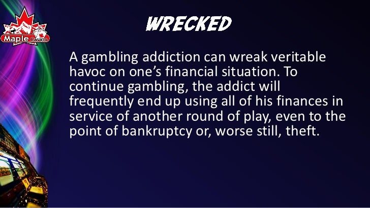 an essay on gambling and its effects on convicts You asked for a list of the consequences (other than a fine and  state law bars  anyone convicted of a drug possession or use felony under federal or  was  convicted of using the premises for prostitution or illegal gambling,.
