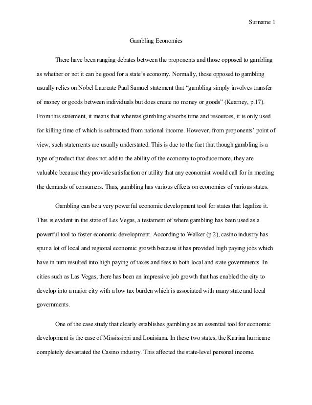 gambling essay