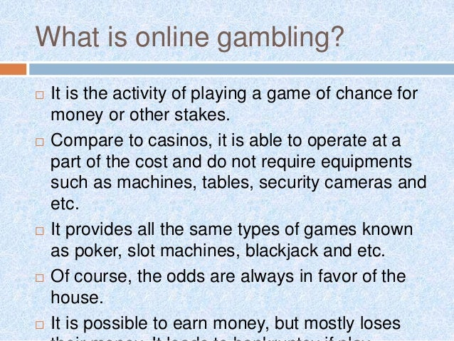 What is online gambling oysters casino
