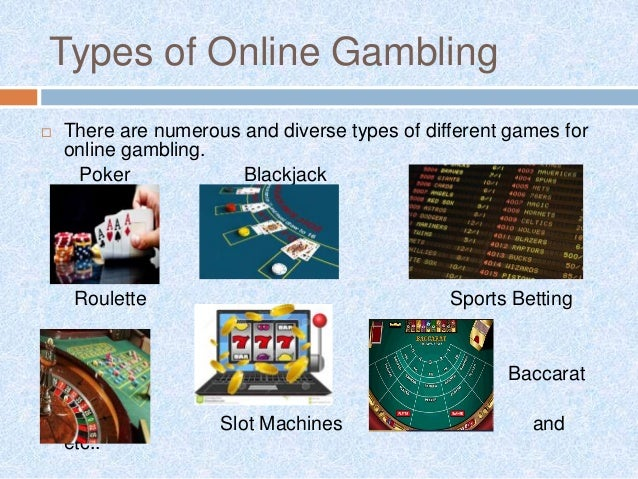 Different types of online gambling siena hotel and casino