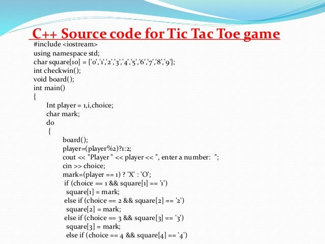 How can I create a game of tic-tac-toe using c++