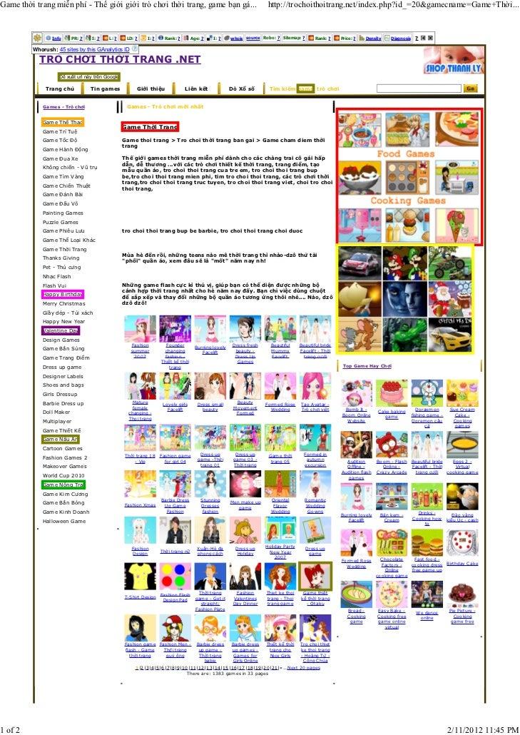 Game thời trang miễn phí - Thế giới giới trò chơi thời trang, game bạn gá...                                        http:/...