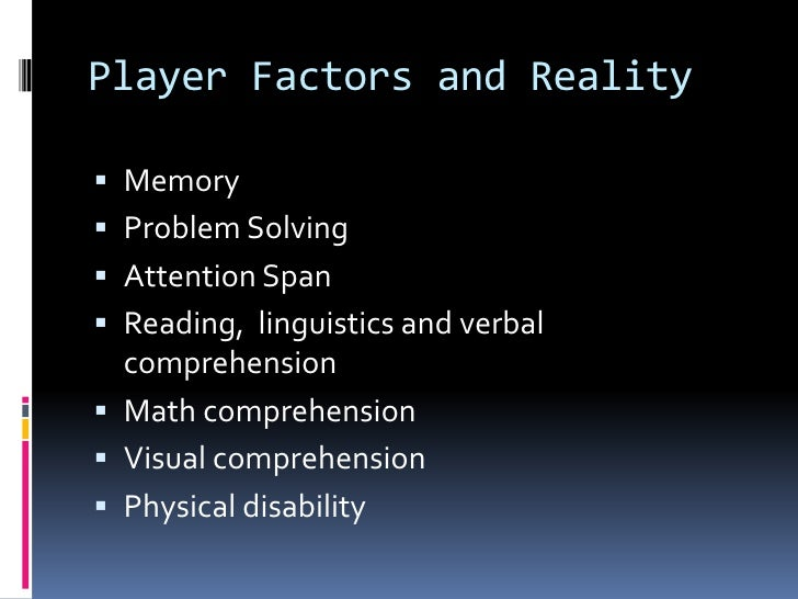 Game accessibilty in special education Slide 3