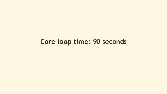 Core loop time: 90 seconds