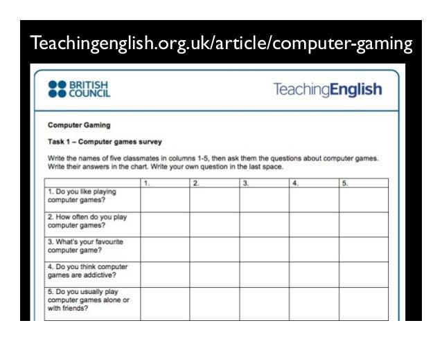 Teachingenglish.org.uk/article/computer-gaming 6kuLfV